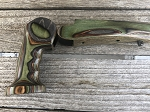 REVOLUTION ENCORE PRF21 Ambidextrous Grip/1 Forend Grip Set in Woodland Camo  -Used But in Very Good Condition
