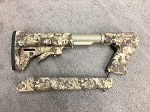 Custom G2 Contender M4 Style Telescopic Rifle Stockset In Kryptek Highlander
