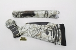 Custom Thompson Center ProHunter Muzzleloader Stocksets in Mothwing Winter Mimicry Snow Camo