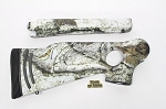 Custom Thompson Center ProHunter RH Thumbhole Rifle Stocksets in Mothwing Winter Mimicry Snow Camo