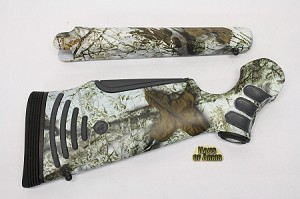 Custom KATAHDIN Pistol Grip Rifle Stocksets in Snow Camo